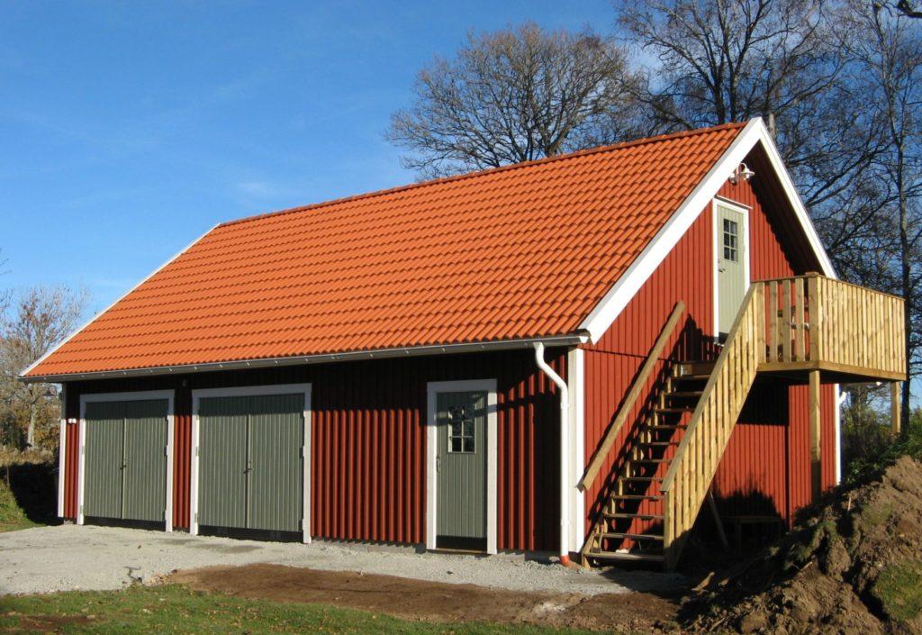 byggsats garage med loft