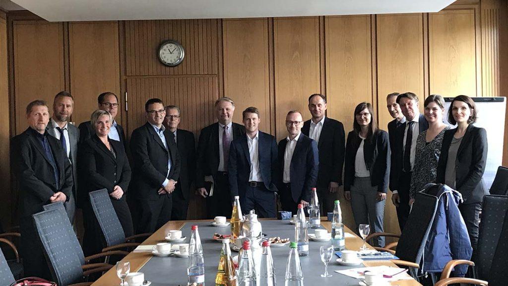 Delegationsresa till Tyskland som en del av priset i tävlingen Smart Industri där Lundqvist Trävaru AB tog hem segern 2018.