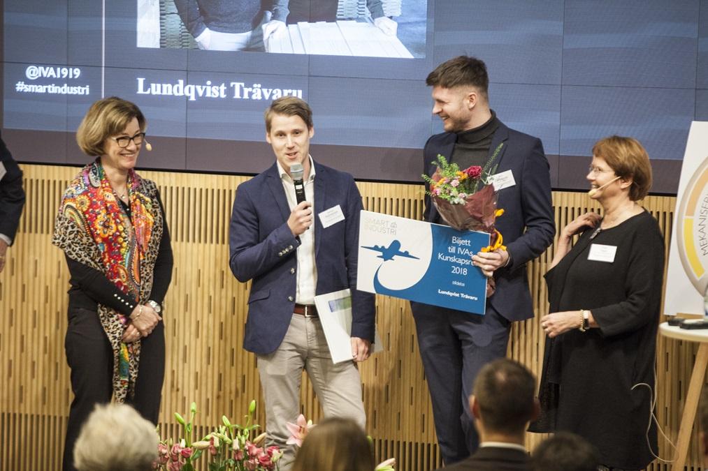 Lundqvist Trävaru AB vinner Kungl. Ingengörsvetenskapsakademiens (IVAs) pris för Smart Inustri.