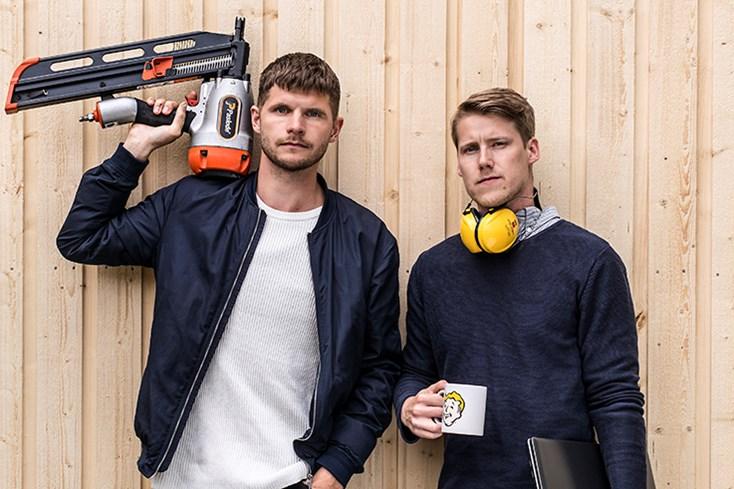 Samuel och Jens på Lundqvist Trävaru AB.