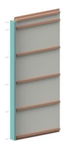 visualisering som visar hur andra väggblocket monteras på syllen