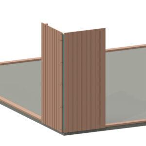 Visualisering av montering av hörnväggblocken