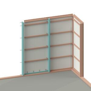 Visualisering av monteringen av väggblock
