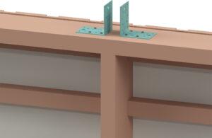 beskriver hur man fäster vinkelbeslagen innan takstolsmonteringen