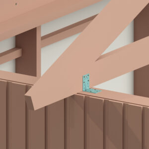Visar hur takstolen ska sitta efter att den är monterad