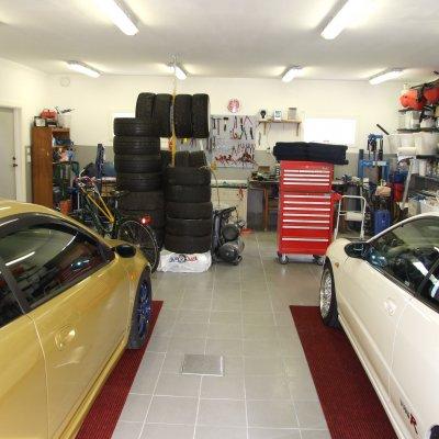 Röda mattan i garaget