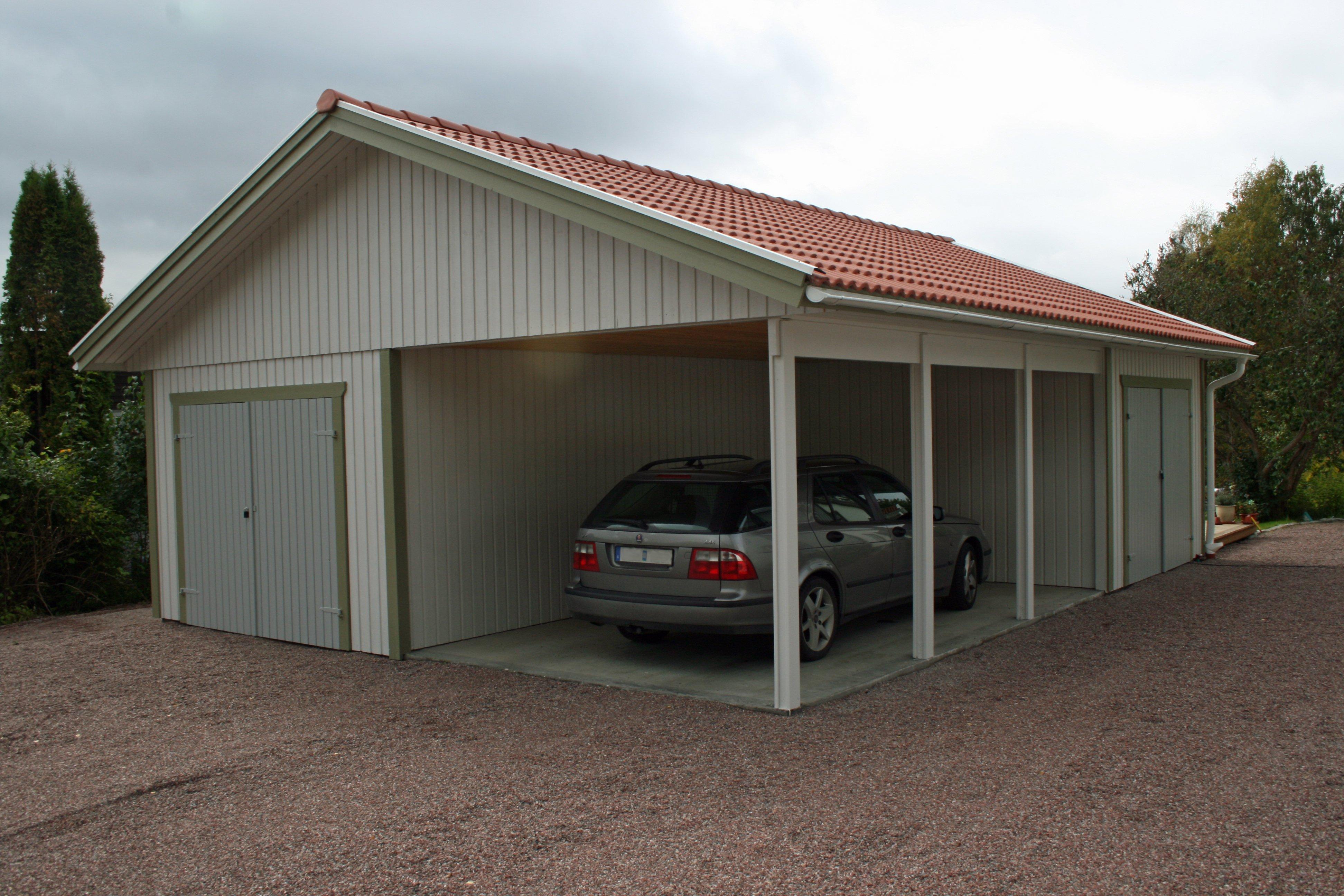 Bilder carport carport med garage carport med f rr d for Garages carports