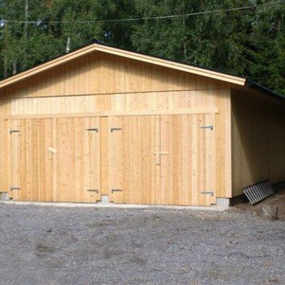 Garaget innan målning