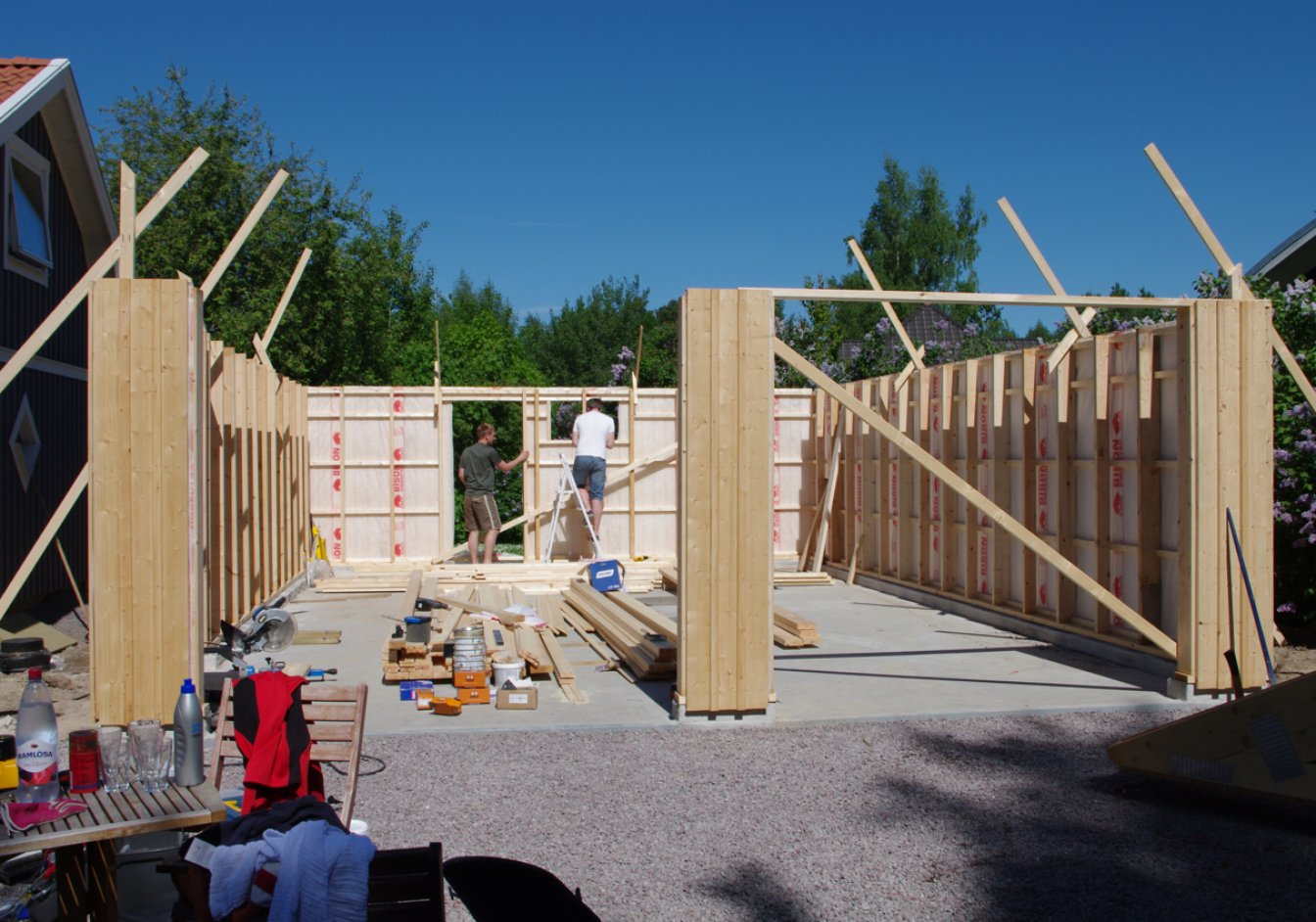 Spara tid med färdiga väggblock : Lundqvist Trävaru